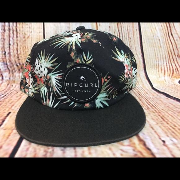 9498cd0de0a332 Rip Curl Women's Surf Beach Hat Black Floral snap.  M_5ab2bd55077b97beddd01498. Other Accessories ...